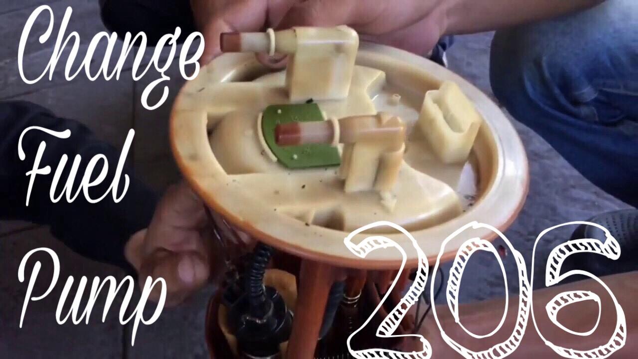 peugeot 206 | change fuel pump | pompa bensin - youtube