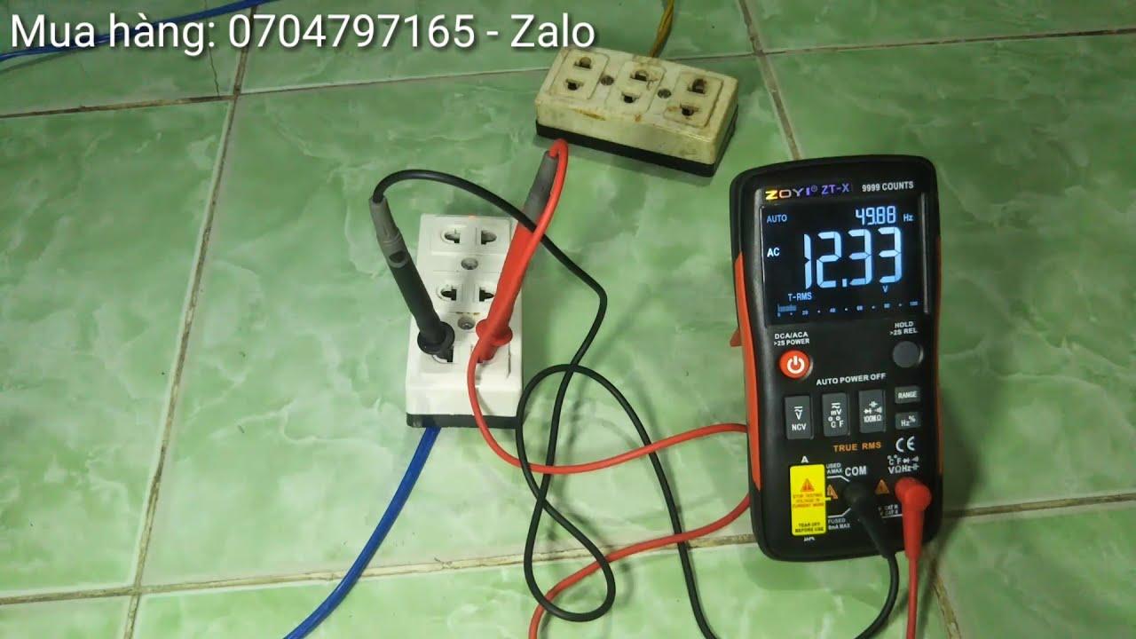 Cách Sử Dụng Đồng Hồ Đo Điện Vạn Năng ZoYi ZT-X    Đồng hồ vạn năng điện tử ZOYI ZT-X chính hãng