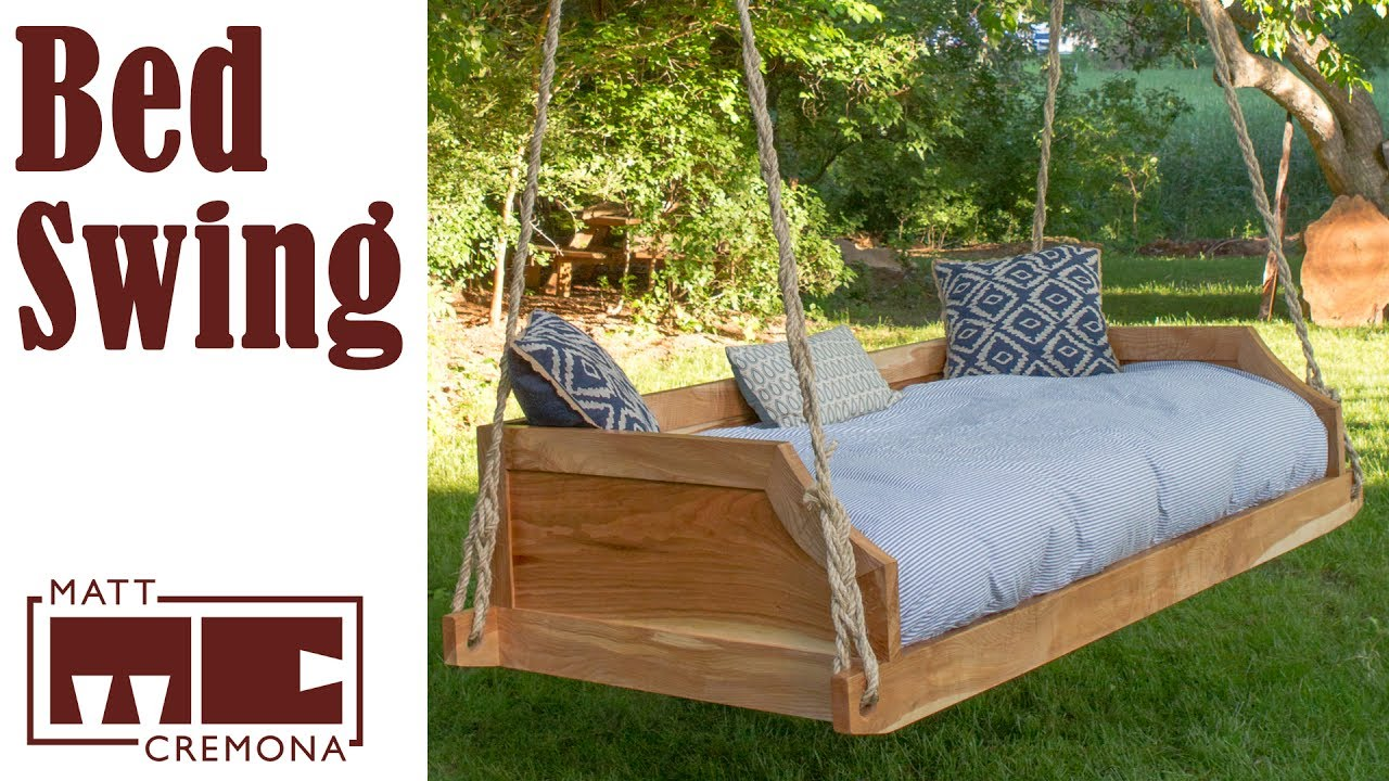 Build a Hanging Bed Swing - YouTube