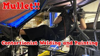 Mullet El Camino Build Episode 21!! Contortionist Welding and Painting!