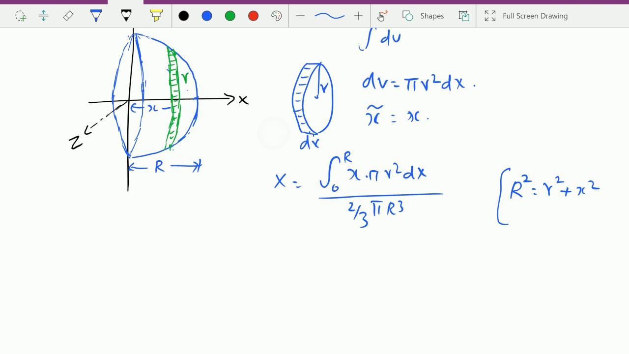 Engineering mechanics : - ( C.G. of solid hemisphere ...