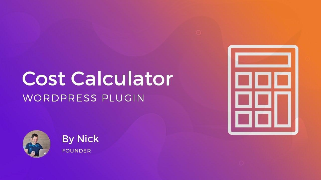 Cost Calculator – WordPress plugin   WordPress.org