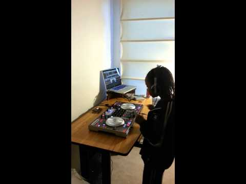 8 year old girl 1st.Time DJing!!!