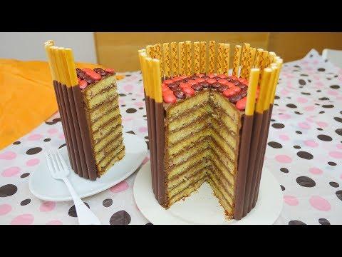 Giant Pocky Chocolate Cake ジャイアントポッキーケーキ