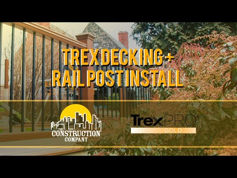 How to Install Trex Composite Decking + Rail Posts (THE RIGHT WAY)