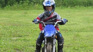 Nolan Kauk 2nd Ride on His Yamaha PW80 Dirtbike