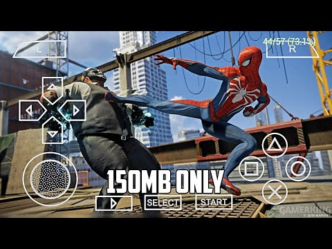 [150MB] Marvel Spiderman Game On Android | Spiderman Web Of Shadows PPSSPP