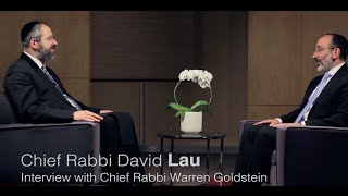 Chief Rabbi David Lau in Conversation with Chief Rabbi Goldstein