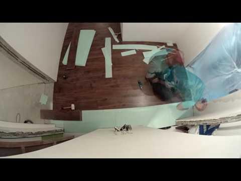 Как класть ламинат в г образном коридоре
