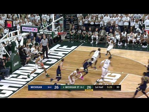 Big Ten Basketball Highlights: Michigan at Michigan State