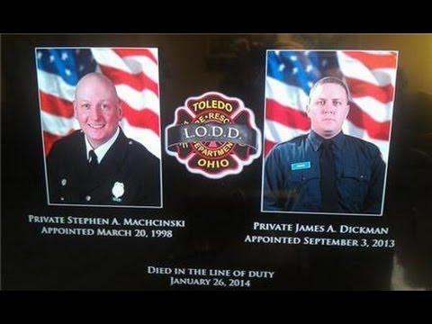 Last Alarm memorial for fallen Toledo firefighters Stephen Machcinski, James Dickman