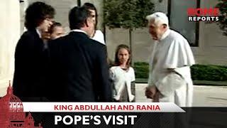 Pope visits King Abdullah and Rania
