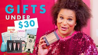 The 10 Best Holiday Beauty Gifts UNDER $30 | Holiday Beauty Haul With Julee Wilson | Cosmopolitan
