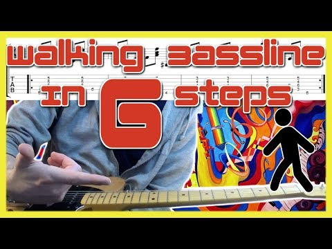 Walking Bass Line Guitar Lesson In 6 Steps (Jazz Tutorial With Tabs)
