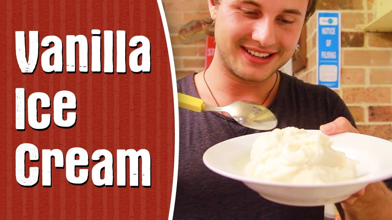 how to make vanilla ice cream in telugu