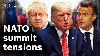 Trump in UK: Macron Spat, NHS trade deal denial and NATO anniversary