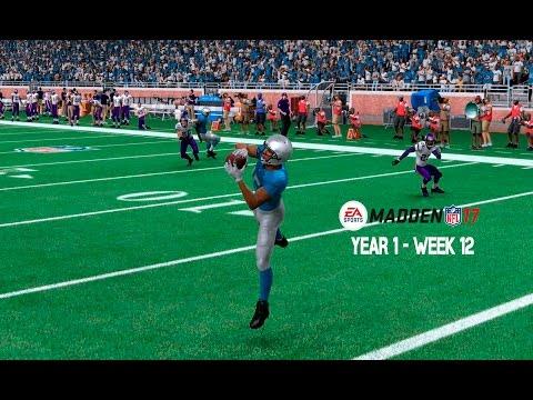 Madden 17 Franchise: Detroit Lions | Y1, W12 vs. Vikings