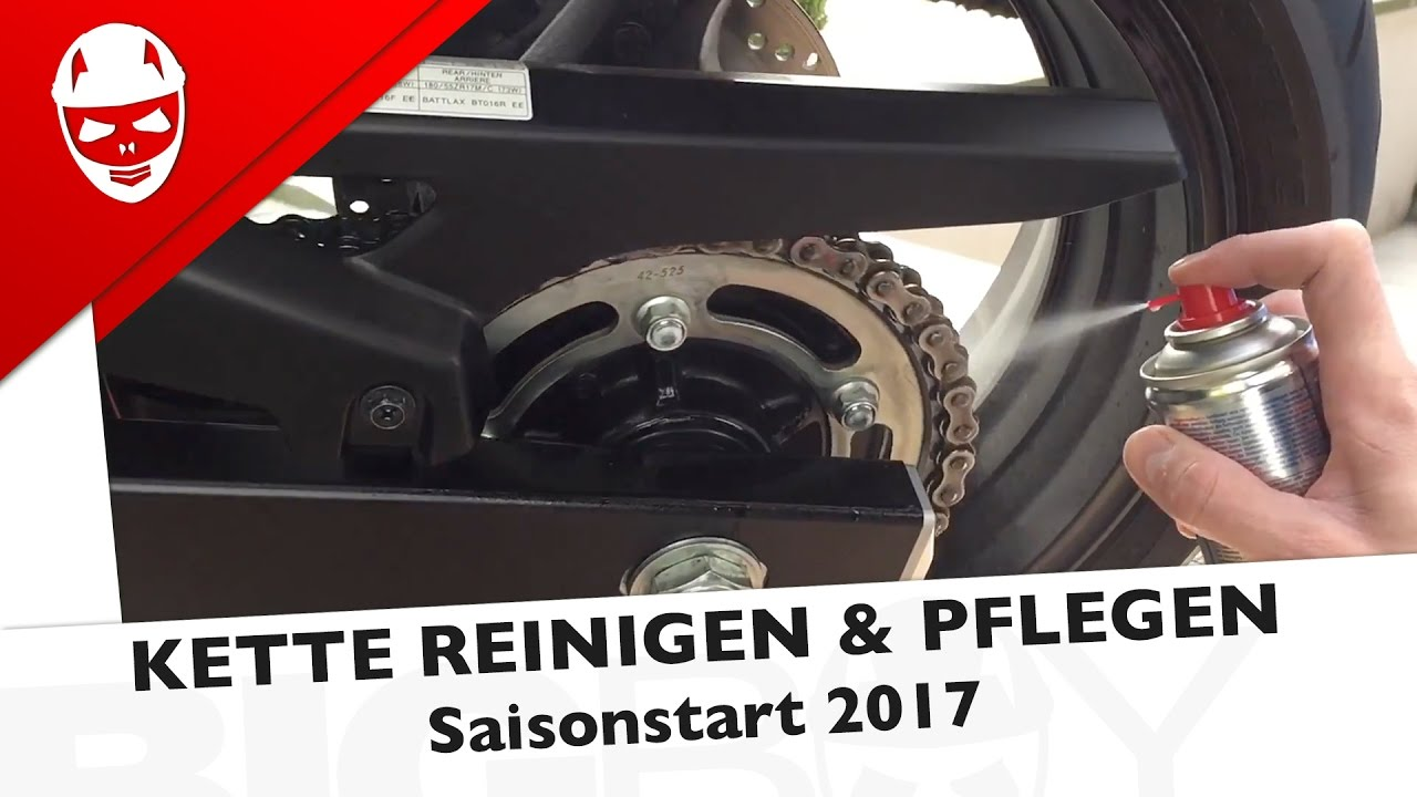 saisonstart 2017 motorradkette reinigen und pflegen youtube. Black Bedroom Furniture Sets. Home Design Ideas