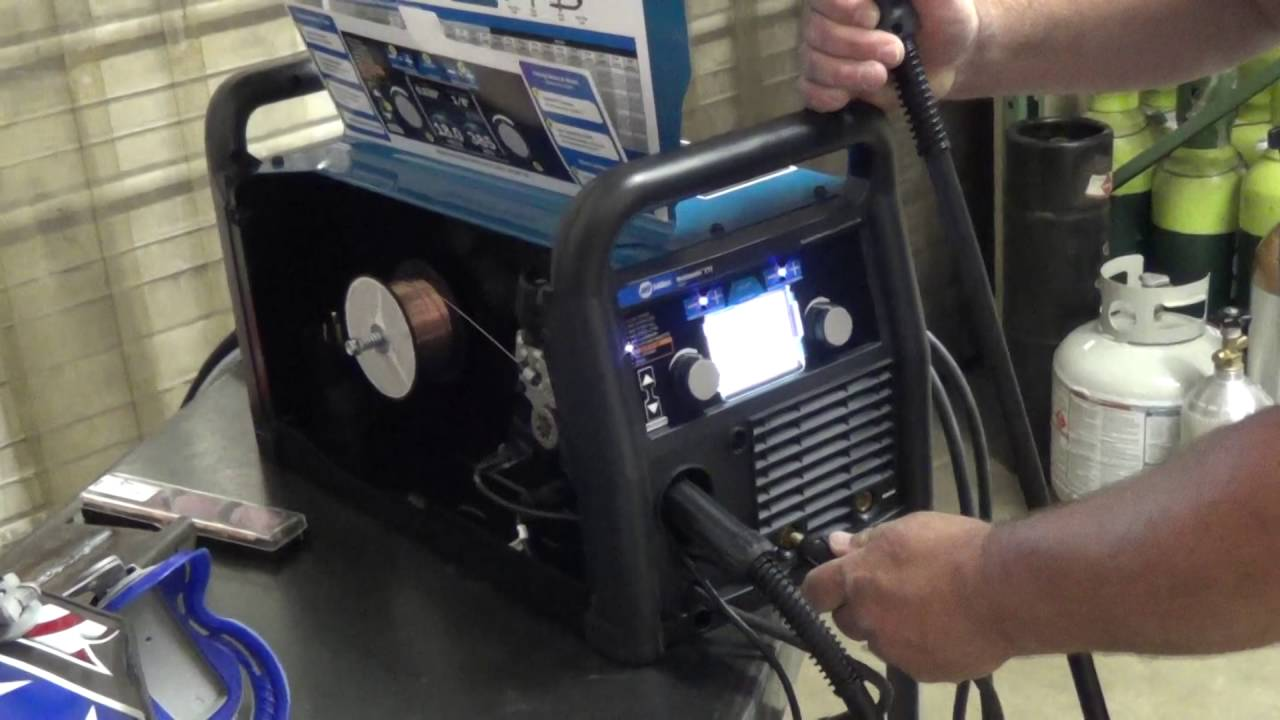Miller Multimatic 215 >> Switching Between Mig And Tig On The Miller Multimatic 215 Multiprocess Welder