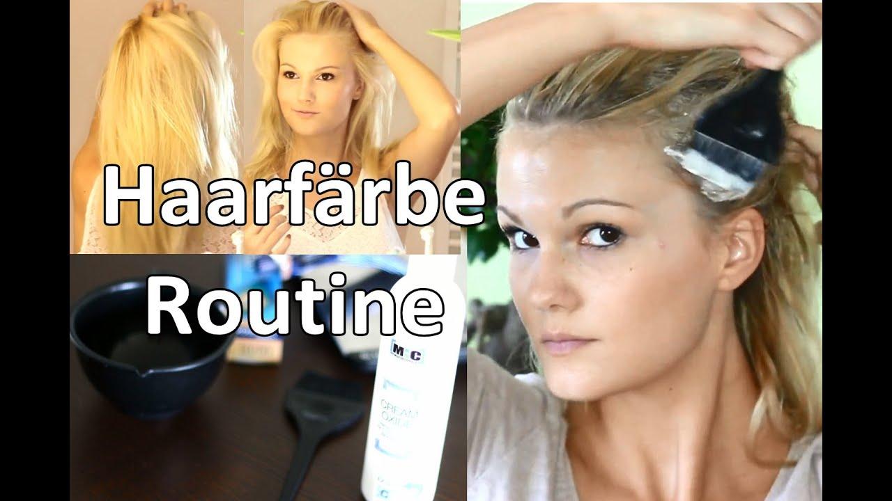 Ansatz Färben Haarfärberoutine Youtube