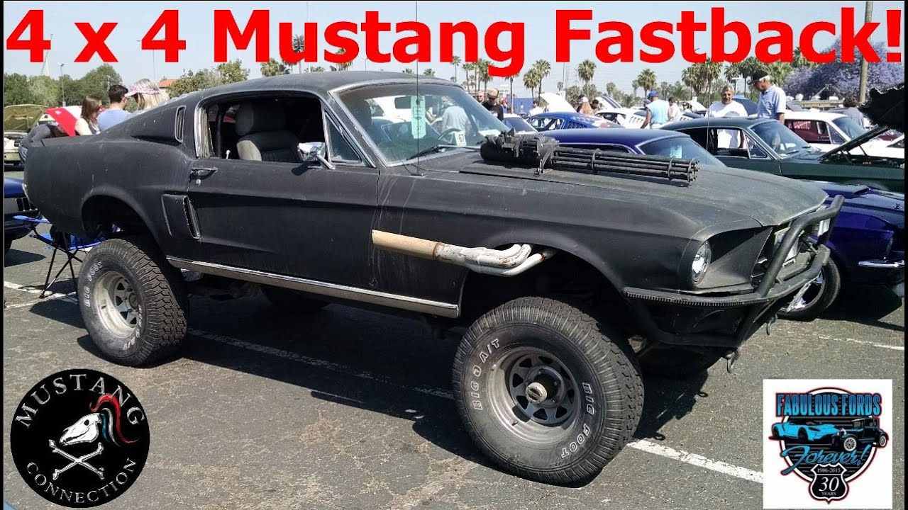 4x4 1967 mustang fastback on a custom bronco chassis fabulous fords forever show 2015 youtube. Black Bedroom Furniture Sets. Home Design Ideas