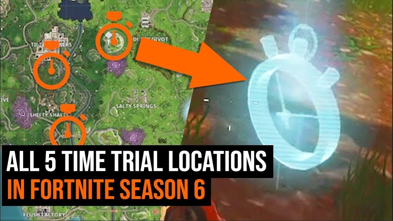 All 5 TIME TRIAL Locations in Fortnite - Season 6 Week 3 Challenges