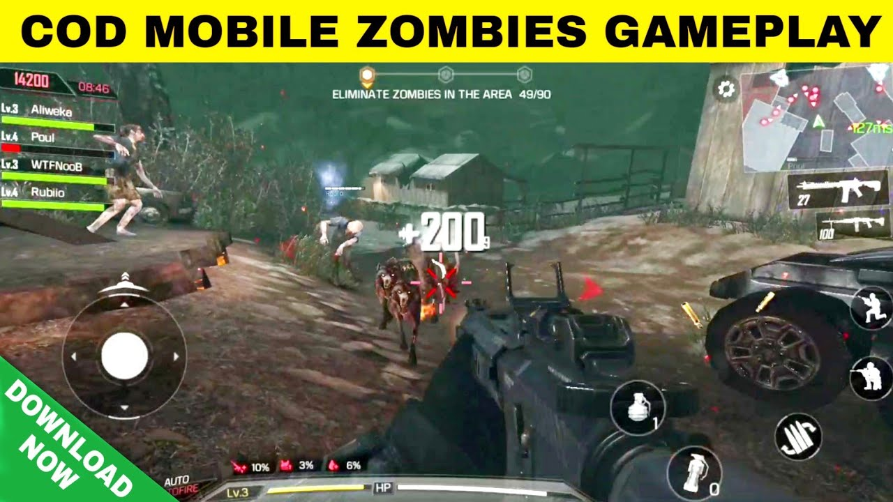 call of duty zombies apk gameplay
