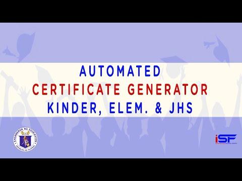 Automated Certificate Generator Version 3 1