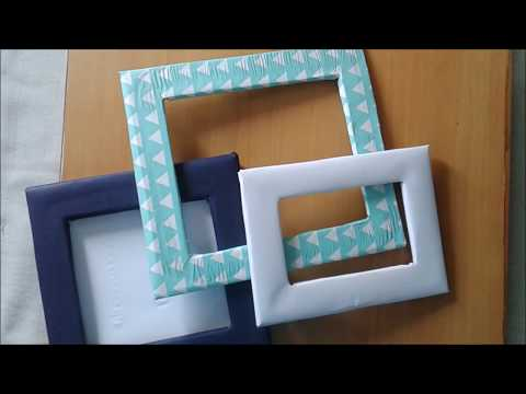 How to make a photo frame with waste material at home for Handmade things from waste material for kids step by step