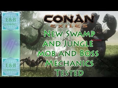 Conan Exiles - SWAMP and JUNGLE Boss,  Mob Mechanics, and More