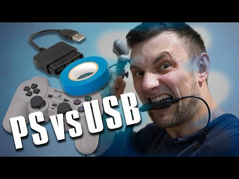 Переходник с геймпада Sony PlayStation на USB порт