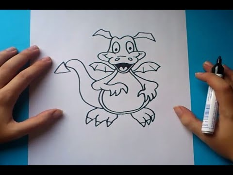 Como dibujar un dragon paso a paso  How to draw one dragon  YouTube