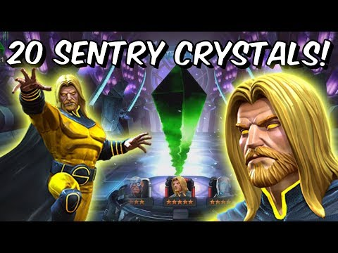 20x Grandmaster Featured 5 Star Sentry Crystal Opening - Marvel Contest Of Champions
