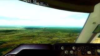 FSX| Africa PMDG B747 Approach RWY24 Kinshasa |IVAO