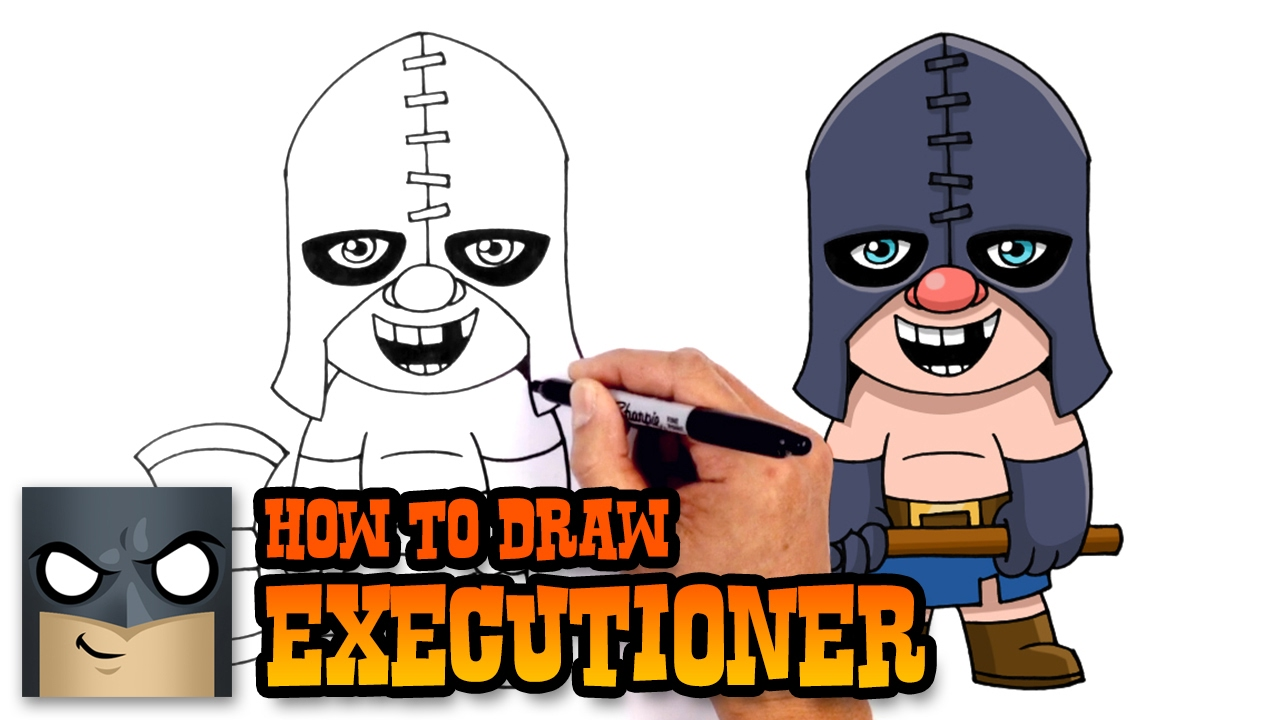 How To Draw Clash Royale Executioner Youtube