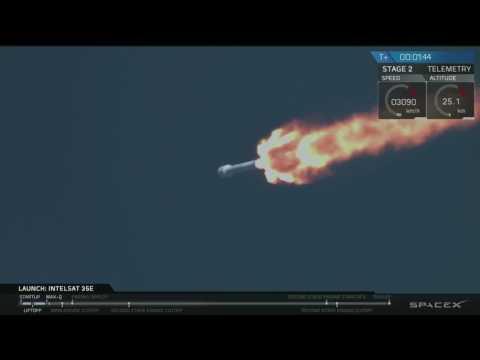 Blastoff! SpaceX Launches Intelsat 35e Satellite   Video