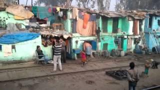 Life along railway track slums Delhi to Bikaner anil jain ajmer