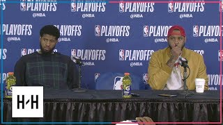 Paul George & Carmelo Anthony Postgame Interview | Jazz vs Thunder - Game 2 | 2018 NBA Playoffs