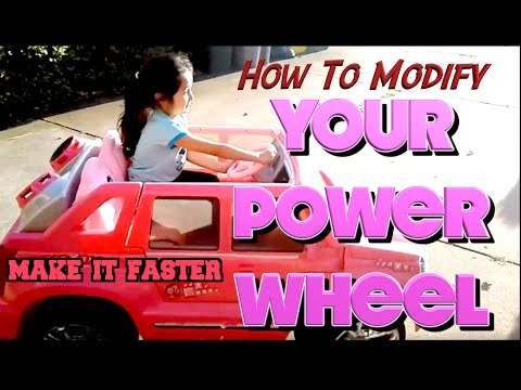 Power Wheels Cadillac Escalade >> How To Modify 12 Volt Power Wheels To 18 Volts Cadillac Escalade