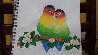 Drawing Love Birds on YouNow -Zaira Nicole