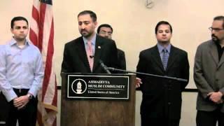 Ahmadiyya Muslim Community - Times Square Press Conference persenting khalid qadiani.flv