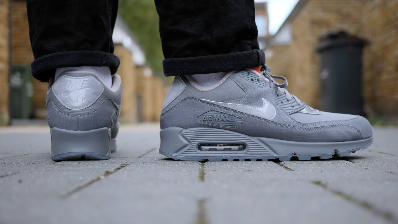 Nike x Basement Approved Air Max 90 'Glasgow' Review & On Feet (Grey Orange)