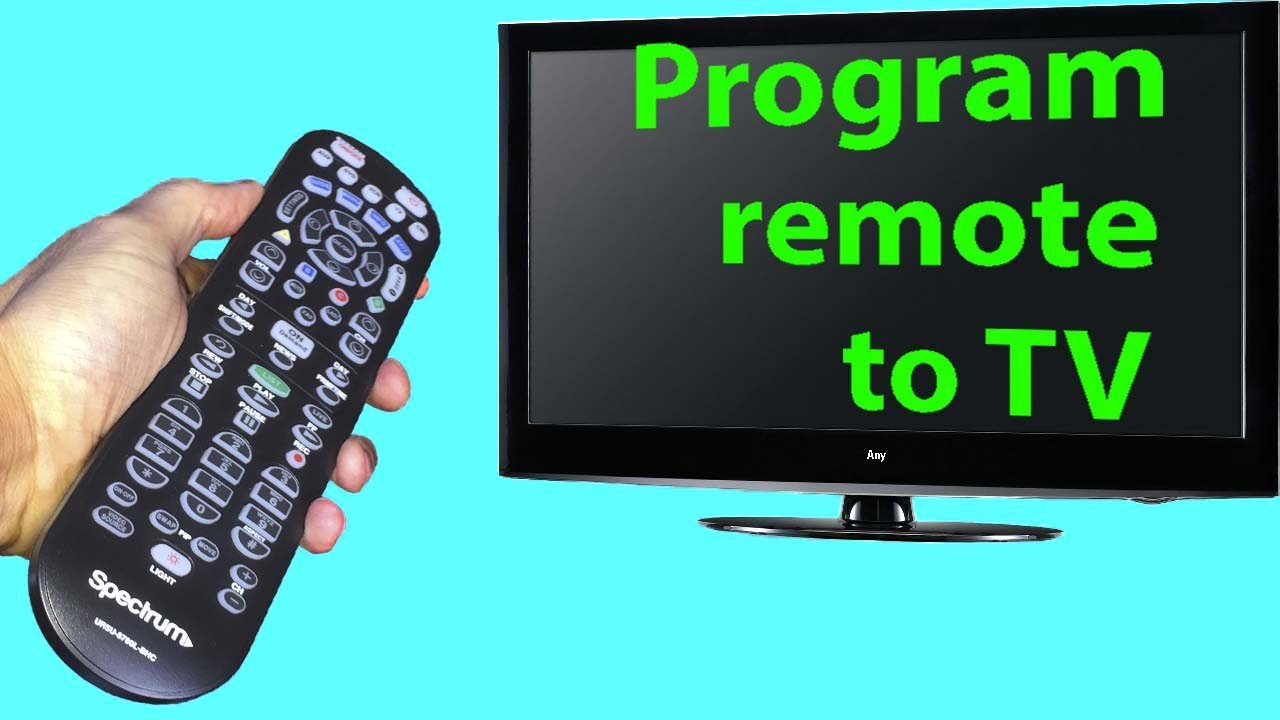 Spectrum Remote Programming To Tv With Codes Youtube