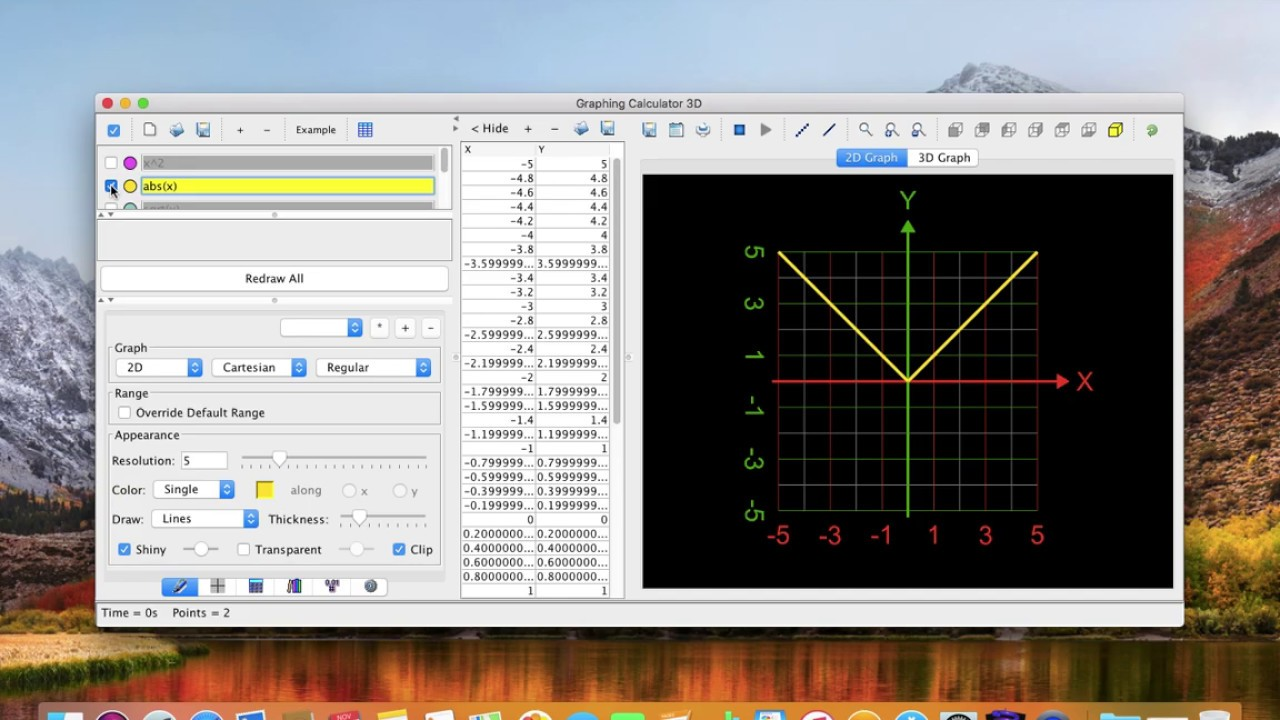 NEW Draw colorful graphs  Free app for macOS Graphing Calculator 3D