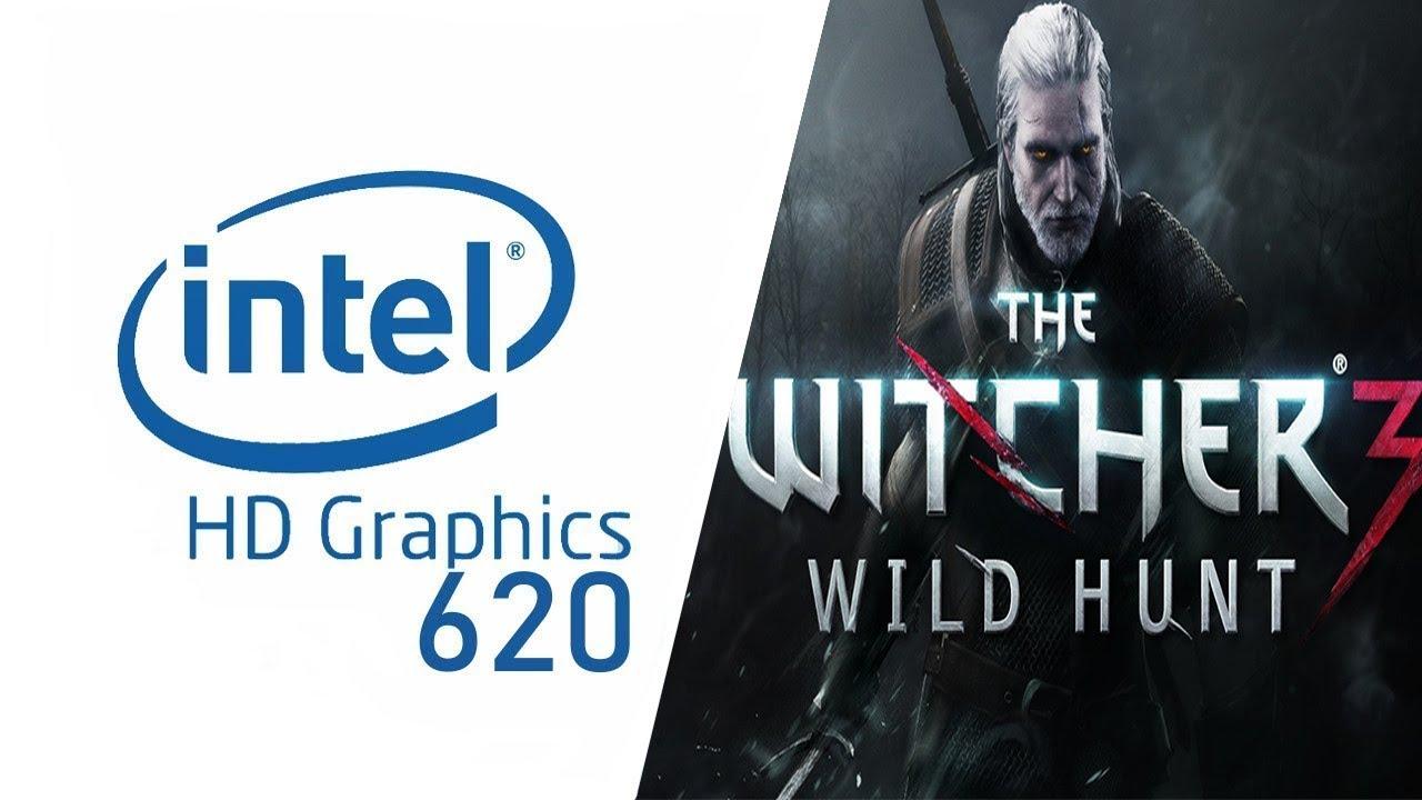 Intel HD Graphics 620 l Gameplay l The Witcher 3: Wild Hunt