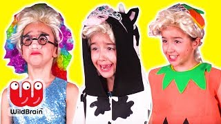 HALLOWEEN COSTUME CONTEST 🎃 The Winner Gets Candy! - Princesses In Real Life | WildBrain Kiddyzuzaa