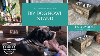 Building a Raised Feeder // Feeding Station // Bowl Stand //  For Your Dog // How to // DIY