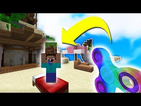 JE TUE DES NOOBS AVEC UN HANDSPINNER ARC EN CIEL ! - Minecraft BEDWARS