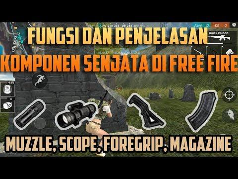 Fungsi Dan Penjelasan Komponen Senjata Free Fire Battlegrounds Indonesia HD