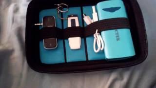 Khanka Organizer Portable EVA Hard Drive Carry Travel Electronics Case Bag (Medium-Black)